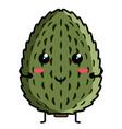 cute soursop emoticon vector image