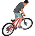 cyclist vector image vector image