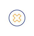 Delete line icon remove sign