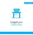 desk student chair school blue business logo vector image