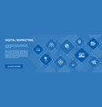 digital marketing banner 10 icons concept vector image vector image