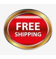 Free shipping button vector image vector image