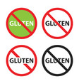 gluten free sign set no gluten icons vector image