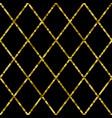 golden sequin seamless pattern luxury retro vector image