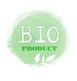 Green bio product label vector image vector image