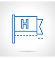 Help button icon blue line style vector image