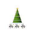 ho ho ho festive banner christmas tree on a white vector image