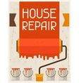 House repair Retro poster in flat design style vector image vector image