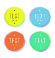 isolated circles blotches with sample text drawn vector image