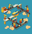 isometric industrial factory template vector image vector image