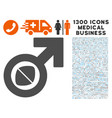 male potency tablet icon with 1300 medical vector image vector image
