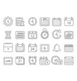 mono line pictures set of time managements symbols vector image