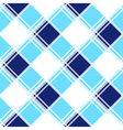 Navy Blue White Diamond Chessboard Background vector image vector image