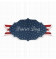 Paper Label with Patriot Day Text and Ribbon vector image vector image