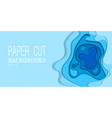 papercut many layers paper 3d color background vector image vector image