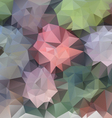 pastel spring flower polygonal triangular pattern vector image vector image