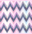 pink color zigzag seamless pattern vector image