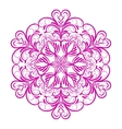 Pink Flower Mandala Over White vector image vector image