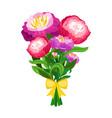 pink peonies bouquet vector image vector image