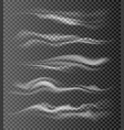 realistic air flow waves vector image vector image