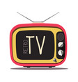 retro tv vintage television isolated on white vector image