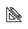 ruler and pencil icon vector image