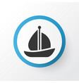 sail ship icon symbol premium quality isolated vector image