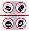SALE tag icon Flat design style vector image vector image