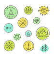 set camping badges vector image vector image