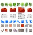 set landscape design elements vector image vector image