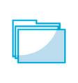 shadow folder cartoon vector image vector image