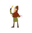 sherlock holmes detective character vector image vector image