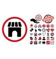 Shop Flat Icon with Bonus vector image vector image