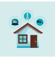 smart home with set services isolated icon vector image