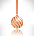 spiral Christmas ball with reflection on grayscale vector image vector image