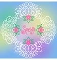 spring pattern of spirals swirls chains vector image vector image
