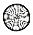 The tree rings icon Tree Rings symbol Flat vector image vector image
