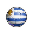 uruguayan flag football - soccer ball vector image vector image
