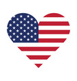 usa flag in form a heart vector image vector image
