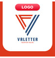 vr monogram logo design template virtual reality vector image vector image
