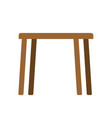 wooden table empty isolated furniture on white vector image vector image