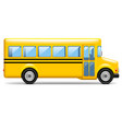yellow school bus profile isolated on white vector image