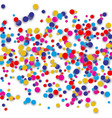 confetti background with many round tiny vector image