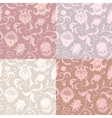 Set of 4 floral seamless patterns vector image