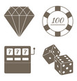 simple set of gambling related icons vector image
