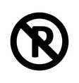parking sign prohibition vector image