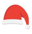 santa hat flat icon new year and christmas xmas vector image