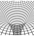 abstract wormhole digital portal though time vector image vector image