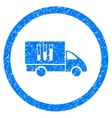 Analysis Delivery Rounded Icon Rubber Stamp vector image vector image