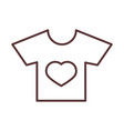 balittle shirt with heart clothes garments vector image vector image